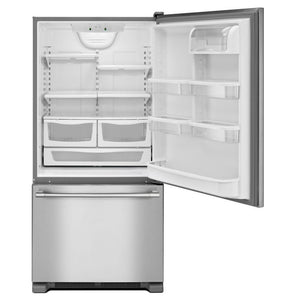 NEVERA FREEZER ABAJO STAINLESS STEEL MAYTAG
