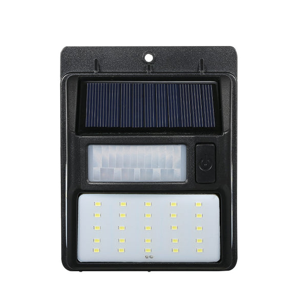 1 Pcs Solar Powered Lamp PIR Motion and CDS Night Sensor LED Wall Light for Outdoor Garden Waterproof 35 LEDs