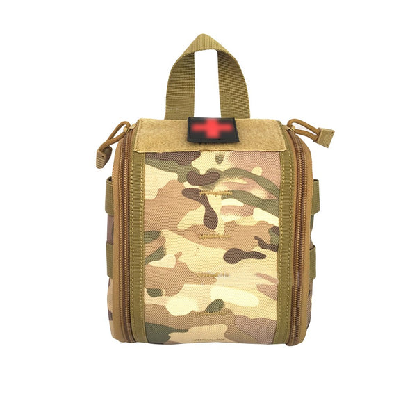 Waterproof Medical Bag Tactical First Aid Kits Utility Medical Accessory Bag Outdoor Activities Hunting Hiking Survival Bag,CP Camouflage