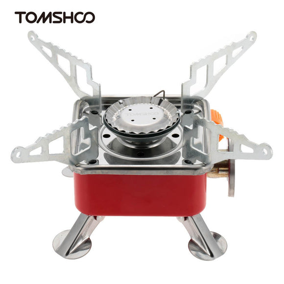 TOMSHOO Portable Collapsible Outdoor Backpacking Butane Gas Camping Picnic Stove Burner 2800W