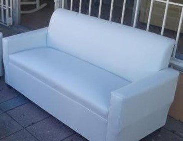 Sofa blanco solo en vinyl color blanco