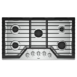 "TOPE DE GAS 36"" WHIRLPOOL STAINLESS STEEL"