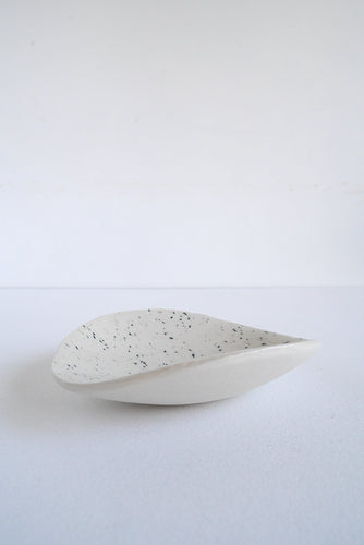 White and Dark Green Dish