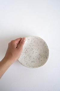 White and Dark Blue Dish