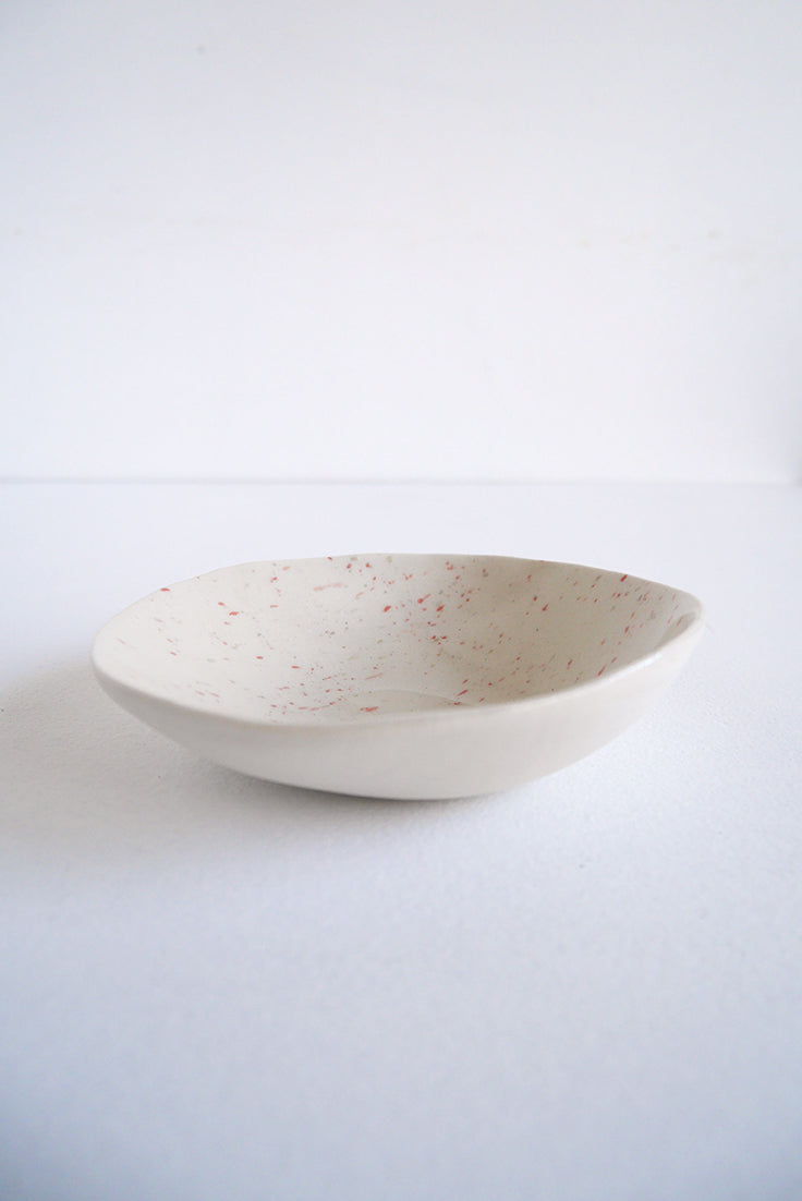 White and Pink Dish