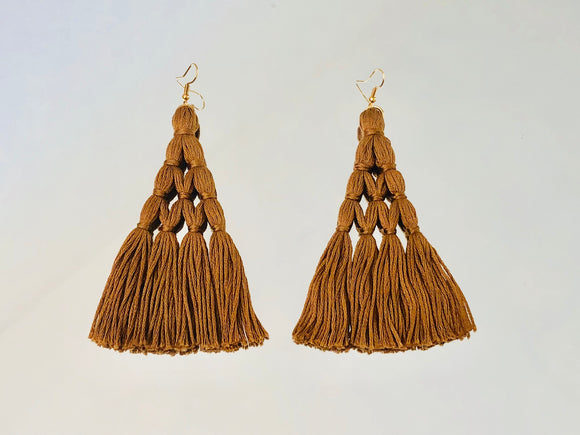 Tan Eiffel Tower Earrings