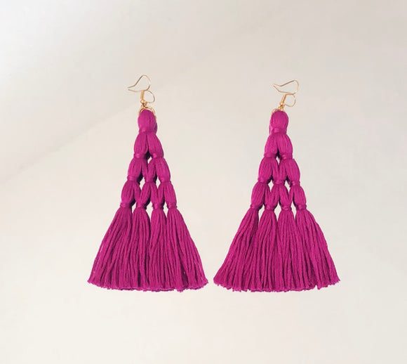 Lilac Eiffel Tower Earrings