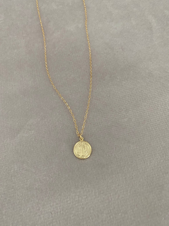Small St. Benedict Medal Necklace