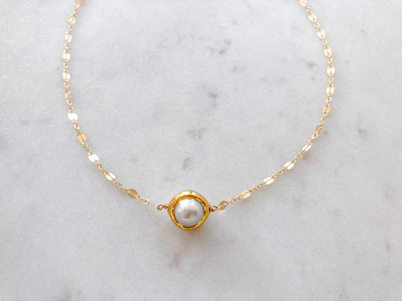 Middle Ocean Pearl Necklace