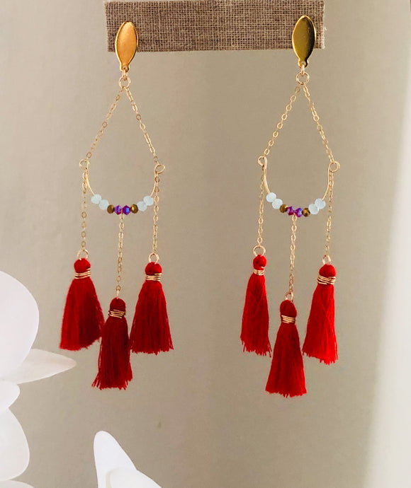 Angel Eyes Earrings (Red)