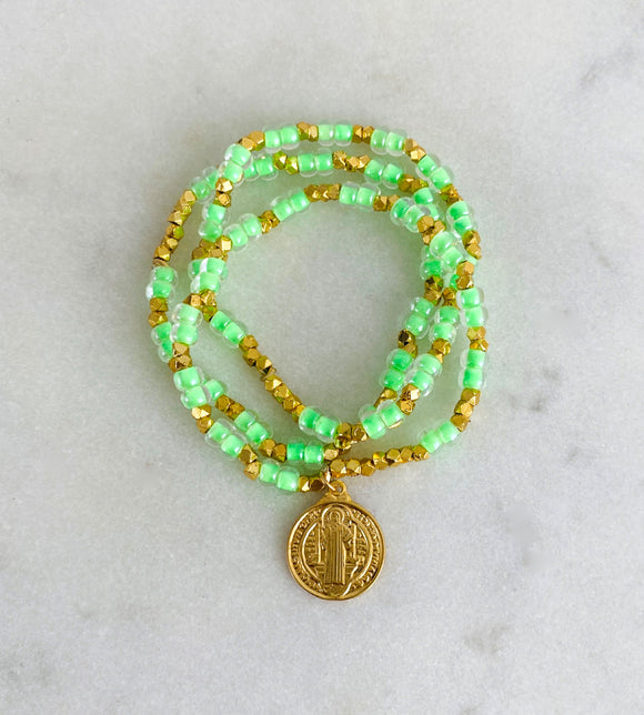 Green Neon Seaside Bracelets
