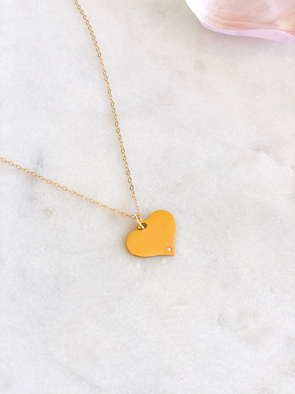 Diamond in My Heart Necklace