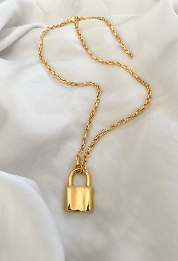 Big Lock Necklace