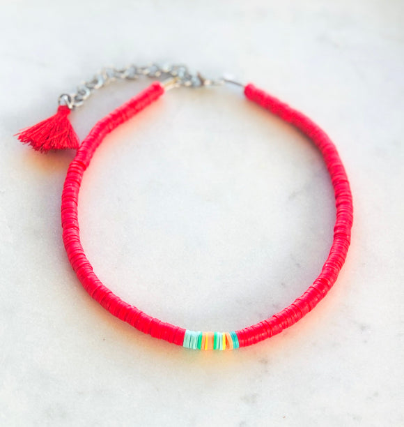 Red Sunset Necklace