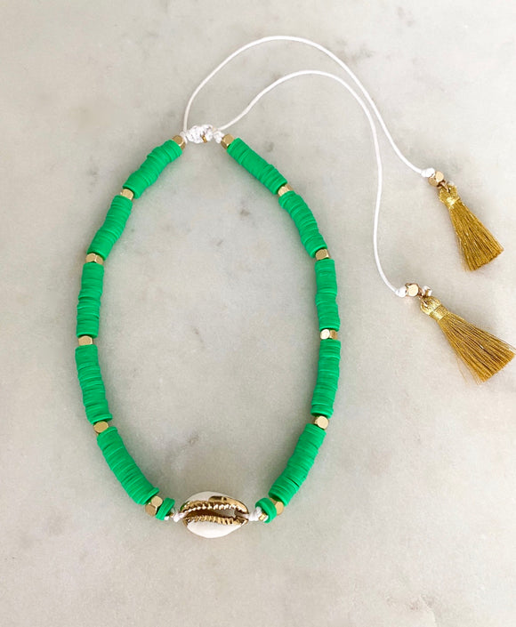 Green Hope Choker| Short Necklace