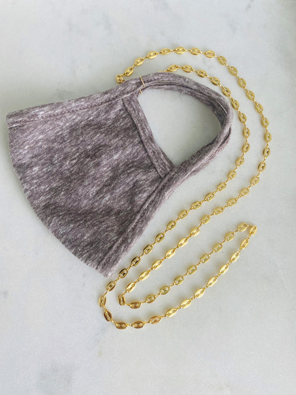 Ella Chain + Light Gray Mask