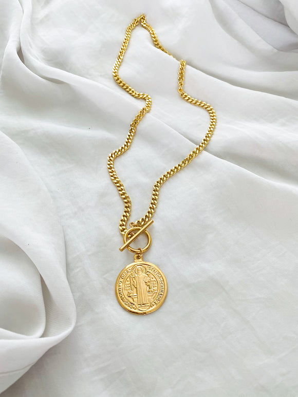 St. Benedict Round Closure Necklace