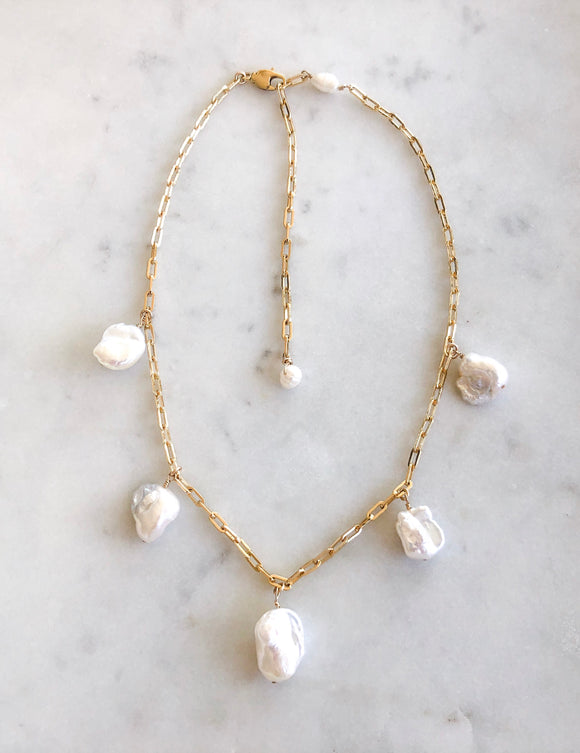 Pearl Charms Necklace