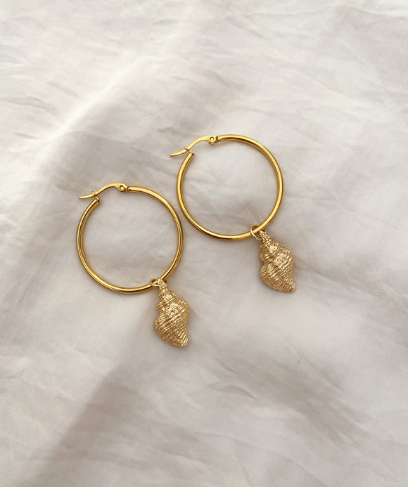 Shell Hoops Earring