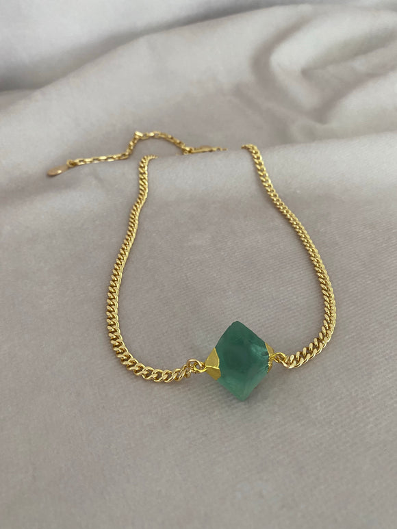 Green Fluorite Stone Necklace