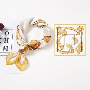 Gold Leaves Hair Scarf