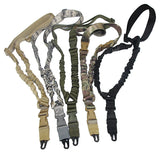 Tactical Rifle Sling Adjustable Single Point Bungee Sling Strap System