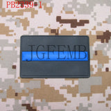 The thin Blue line Police PVC patch