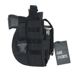 Tactical Molle Gun Holster with Mag Pouch for Pistol that fits Glock 17 18 19 23 Beretta M92 M96 M9. *Firearm Not Included.