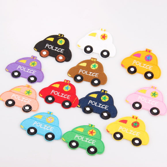 Mix Color Police Car Kids Hand-out Patches
