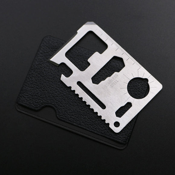 11 in 1 Stainless Steel Credit Card Wallet Survival Tool
