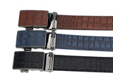 Premium Designer Cowskin Leather Crocodile Pattern Belt.