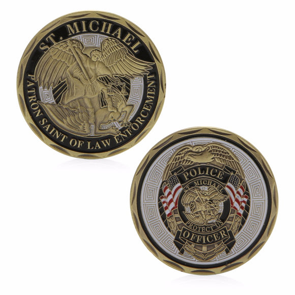 Saint Michael Patron Saint Police Commemorative Challenge Coin