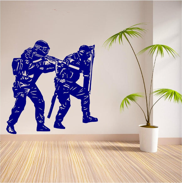 SWAT Entry Removable Art PVC Decor Wall Sticker (pick your size and color)