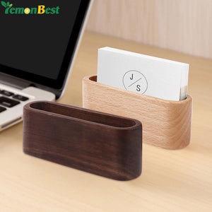 Professional Desktop Wood Business Card Organizer