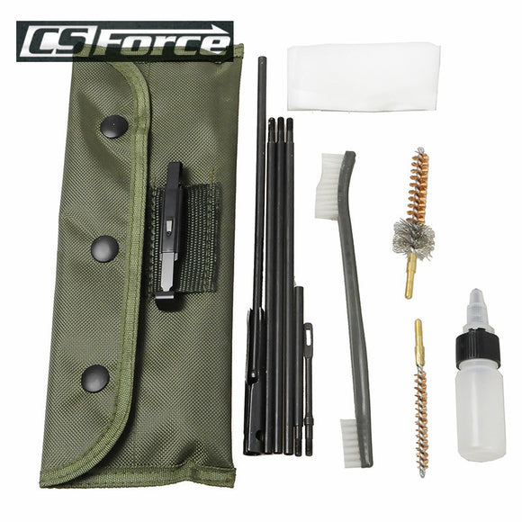 CS Force Brand Long Gun (10) Piece Cleaning Kit for .22 (LR),  .223, 556 Rifles