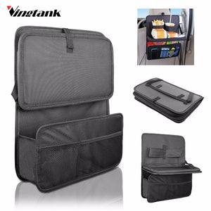 Vehicle Seat Storage Organizer With Fold Down Soft Tray