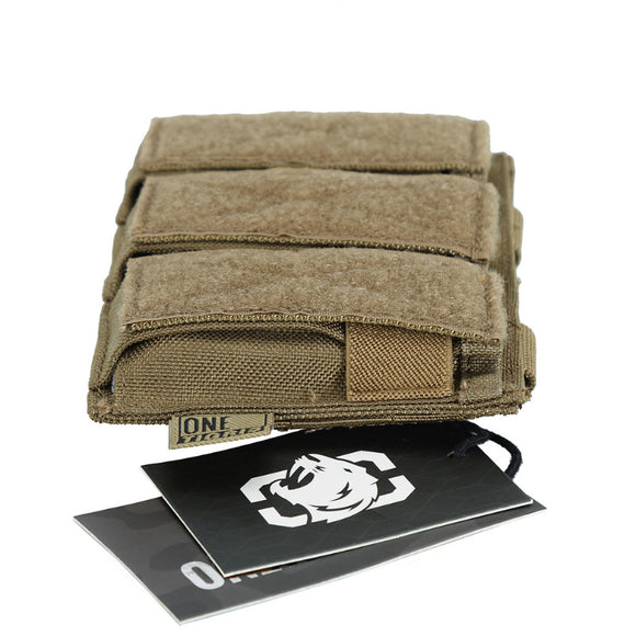 Tactical Triple Pistol Magazine Pouch 9mm 40 S&W 45 ACP For GLOCK, M1911, 92F, ETC.