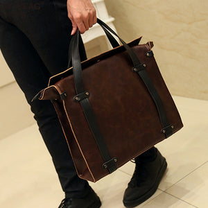 "(13"") Leather Leisure Business bag - Savvydetective"