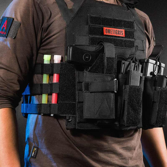 Tactical Compact Pistol Holster MOLLE For PT111 Springfield XD Series SG P320 GLOCK 26-43. *Firearm Not Included.