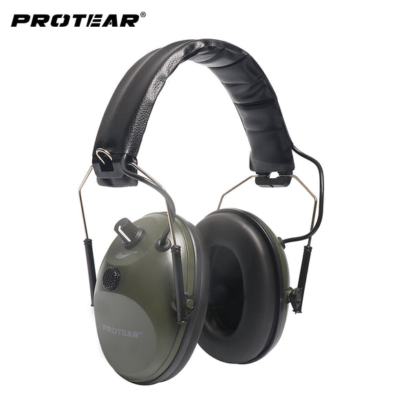 Protear Single Microphone Electronic Earmuff Shooting Range Tactical Gear