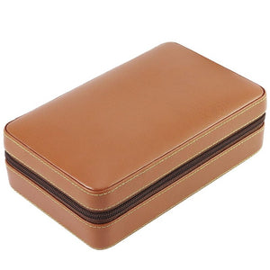 Travel Humidor Storage Box with Leather and Cedar Wood Cigar Humidor Kit.