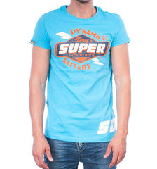 Superdry t-shirt reworked classic tee fluro blue