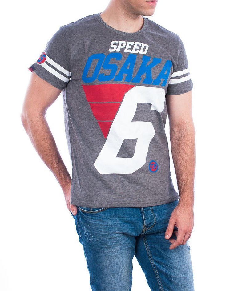 Superdry t-shirt speed osaka charcoal marl