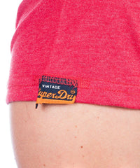 Superdry t-shirt wild athletics tee red marl