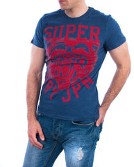 Superdry t-shirt wild athletics tee blue marl