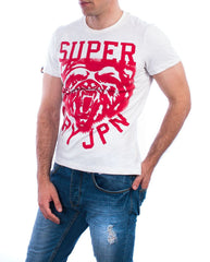 Superdry t-shirt wild athletics tee ice marl