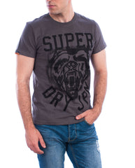 Superdry t-shirt wild athletics tee dark grey marl