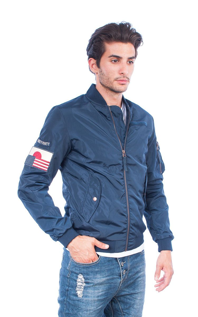 Jack & Jones Bomber Jacket μπλε