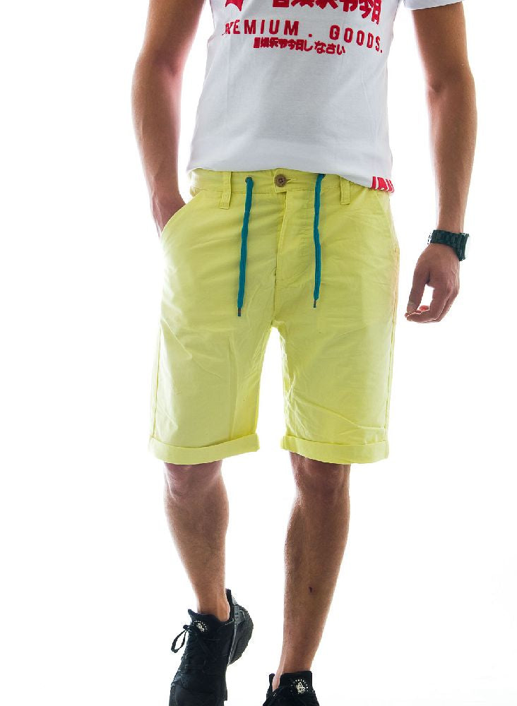eight2Nine Men Bermuda Yellow