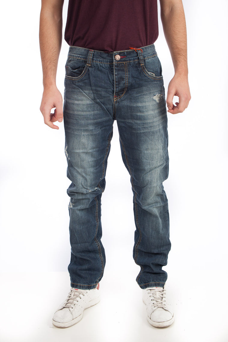 URBAN SURFACE Jeans Destroyed μπλε dark blue H8311E60989D12